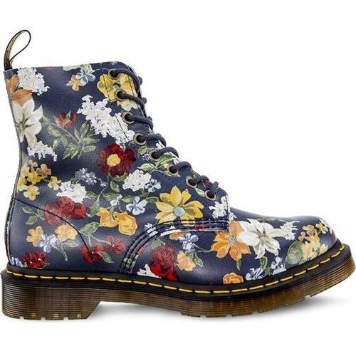 Dr martens darcy floral 1460 pascal dm's navy darcy floral backhand straw grain - glany damskie - motyw, Dr. martens