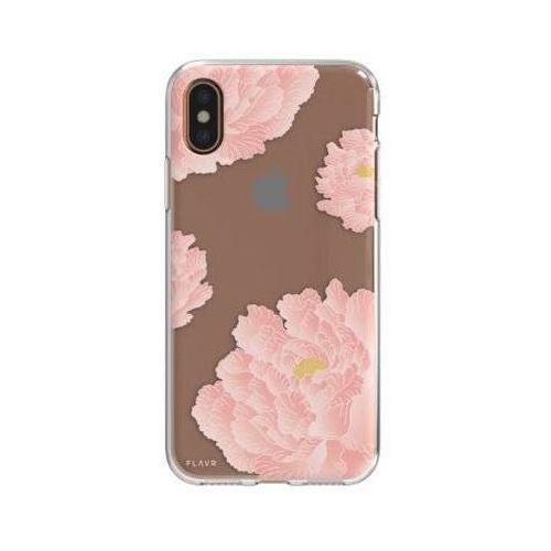 Etui FLAVR iPlate Pink Peonies do Apple iPhone X Wielokolorowy (30037)
