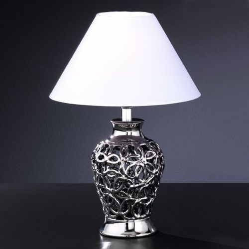 Fischer & honsel Honsel coco lampa stołowa chrom, 1-punktowy (4001133901819)