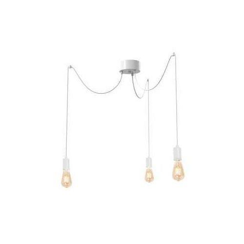 Luminex Spindel 4097 lampa wisząca zwis 3x60W E27 biały (5907565940978)