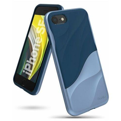Ringke Wave hybrydowe etui żelowy pokrowiec z ramką iPhone SE 2020 / iPhone 8 / iPhone 7 niebieski (WVAP0026) (8809716073498)