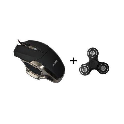 Hiro Mysz przewodowa aero + fidget spinner roller hid-2