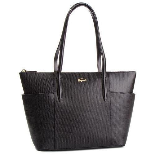 Torebka LACOSTE - Zip Shopping Pockets NF2491CE Black 000, kolor czarny