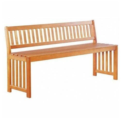 Drewniana ławka ogrodowa Jotun - brązowa