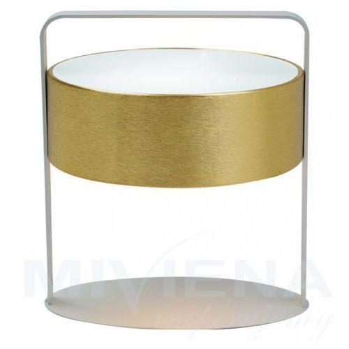 Viokef Drum lampa stołowa 1 złoty szklo 35 cm