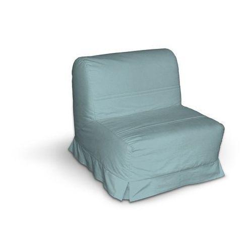 Dekoria pokrowiec na fotel lycksele z kontrafałdami, błękitny, sofa lycksele 1os., madrid