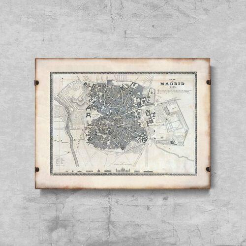 Vintageposteria.pl Plakat vintage do salonu plakat vintage do salonu stara mapa historii powiatu maryland