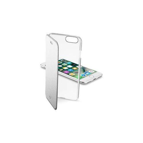 Cellularline Pokrowiec na telefon clear book pro apple iphone 8/7 (clearbookiph747s) srebrne