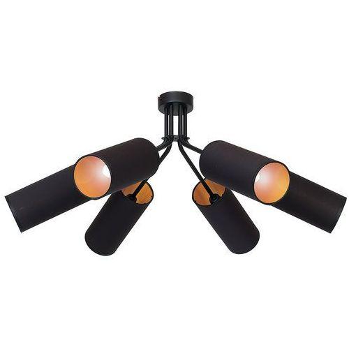 Lampa sufitowa adx 913pl/k abażurowa oprawa tuby na metalowych wysięgnikach czarne złote marki Aldex