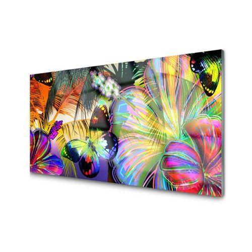 Obraz szklany abstrakcja motyle piórka marki Tulup.pl