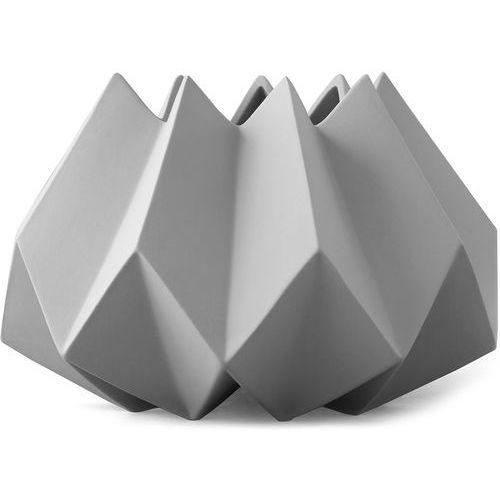 Wazon ceramiczny Folded Menu jasnoszary (4763119), 4763119