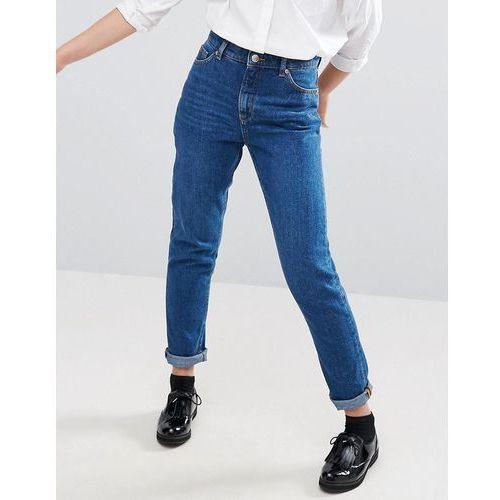 Monki Kimomo Mom Jeans - Blue, kolor niebieski