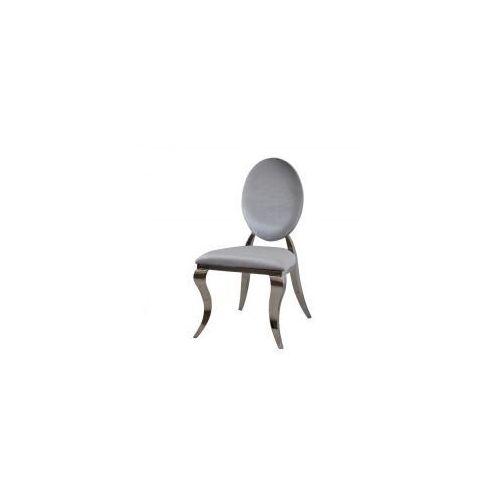 Krzesło Ludwik II glamour Silver - nowoczesne krzesło tapicerowane, Louis2/KRZP/silver