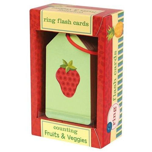 MUDPUPPY Karty do nauki liczenia - Owoce i warzywa