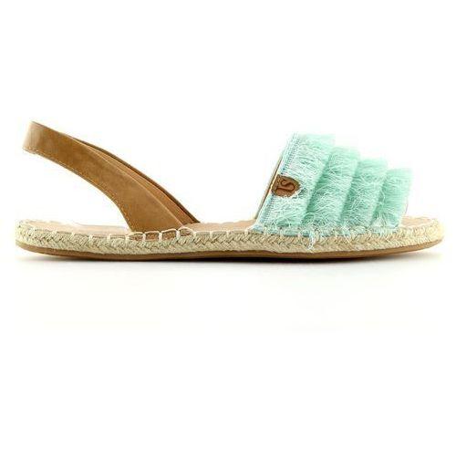 Buty obuwie damskie Espadryle w karaibskim stylu miętowe 8413