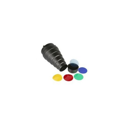 BASIC Reflektor tubus + plaster miodu + filtry kolorowe, fy4290