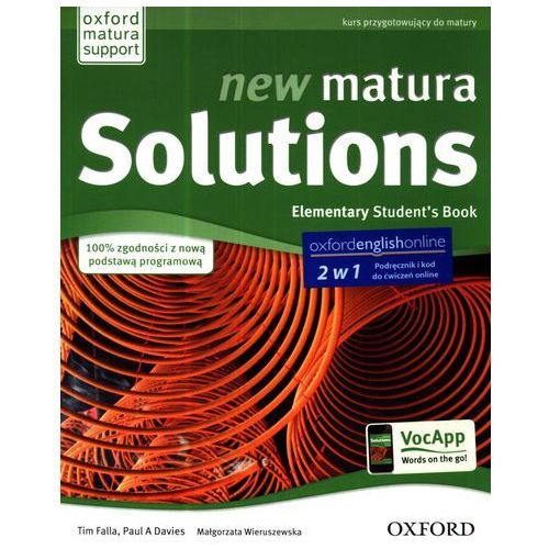 New Matura Solutions Elementary - Student's book + Workbook (+ online access) (9780194500135)