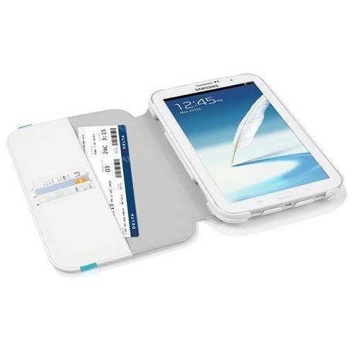 Etui z klapką samsung galaxy note 8.0 n5100 - biało-niebieskie - watson wallet case marki Incipio