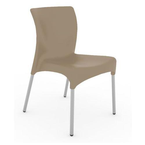 Krzesło kawiarniane na metalowych nogach moon marki Resol