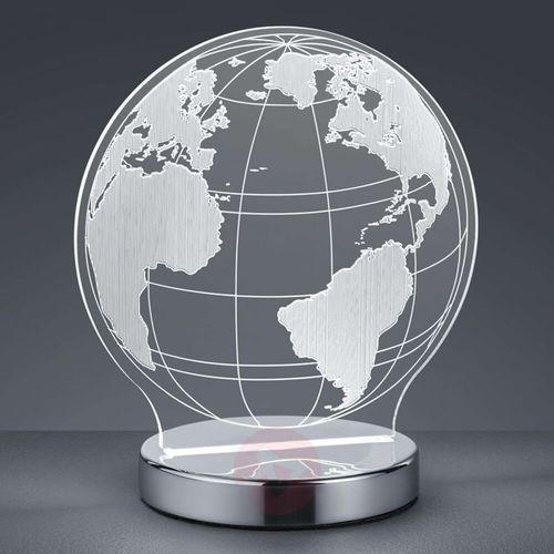 Reality Globe Lampa stołowa LED Chrom, 1-punktowy - Nowoczesny - Obszar wewnętrzny - GLOBE - Czas dostawy: od 2-4 dni roboczych, R52481106
