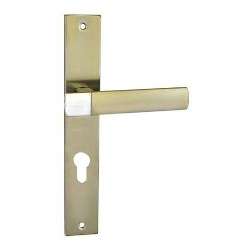 Klamka drzwiowa Schaffner Gold 72 mm na wkładkę nikiel satyna/chrom, GONI/CR7Y