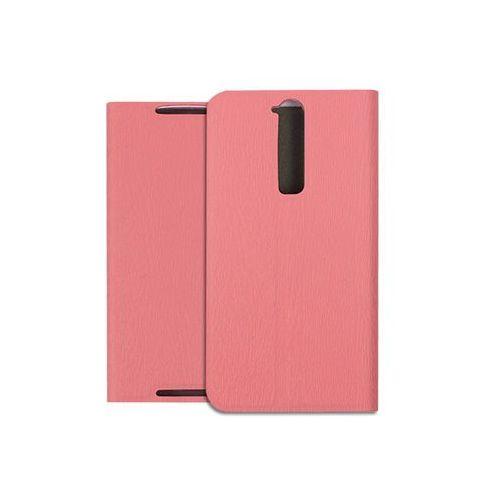Etuo flex book Zte axon mini - pokrowiec na telefon - różowy