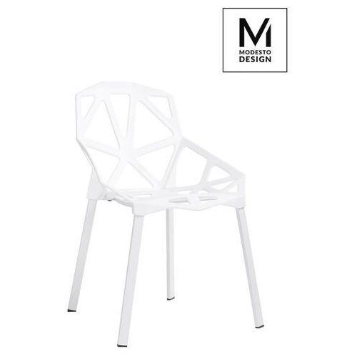 Sofa.pl Modesto krzesło split mat białe - polipropylen, podstawa metalowa