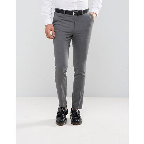 New Look wedding skinny fit suit trousers in mid grey - Grey