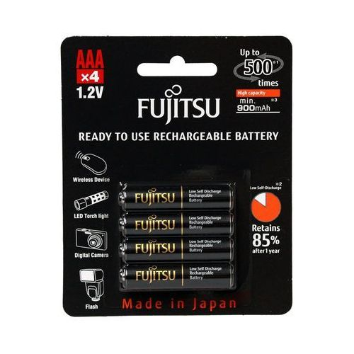 4 x akumulatorki Fujitsu BLACK HR-4UTHC R03/AAA 950mAh, FUHR3UTHC-4BP