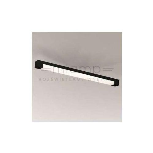 Plafon LAMPA sufitowa SUMOTO 8032/G5/CZ Shilo prostokątna OPRAWA natynkowa LISTWA do łazienki IP44 czarna (1000000348064)