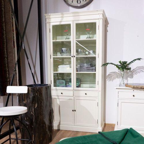 Dekoria Kredens Lupo white, 104 × 42 × 220