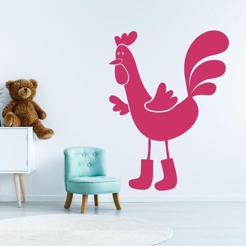 Wally - piękno dekoracji Naklejka welurowa dla dzieci kogut 2269