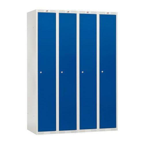 Szafka do przebieralni - 4 sekcje kolor drzwi niebieski marki Array