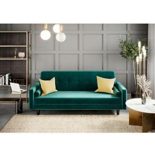Sofa kanapa wersalka siena welur zieleń butelkowa rozkładana z funkcją spania dostawa 0zł marki Big meble