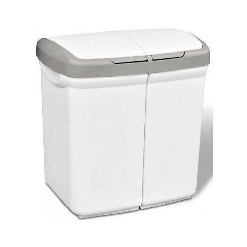 Kosz na śmieci MELICONI Ecobin 50L Biały, 8006023048670