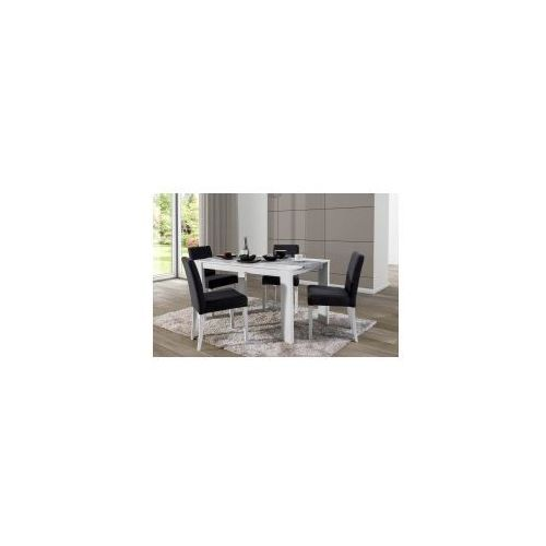 Stół prado 80x140/190 biały/czarny marki Nova meble