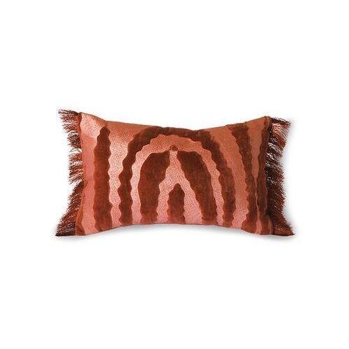 aksamitna poduszka z frędzlami tiger czerwona (25x40) tku2095 marki Hkliving