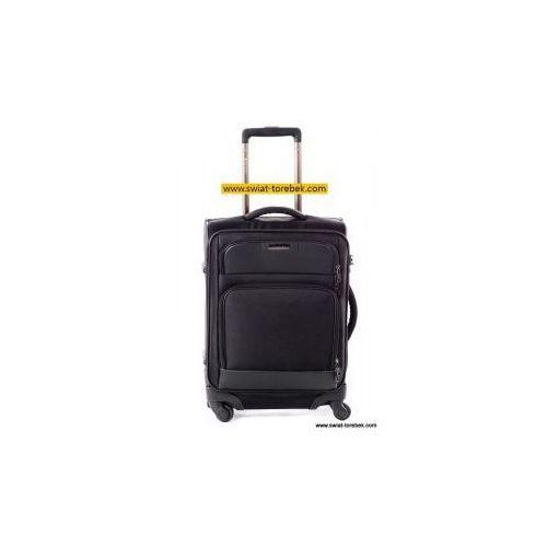 Puccini walizka mała/kabinowa z kolekcji business miękka 4 koła materiał poliester 600d zamek szyfrowy z systemem tsa z miejscem na laptopa 15,6