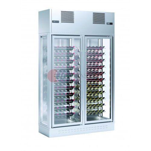 Witryna przyścienna 2-drzwiowa do przechowywania i ekspozycji wina ENOLUX WI-2W-GRE-23