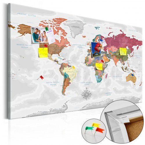 Obraz na korku - podróże przez świat [mapa korkowa] marki Artgeist