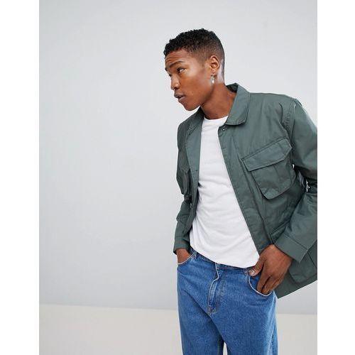 keith pocket utility jacket - green marki Weekday