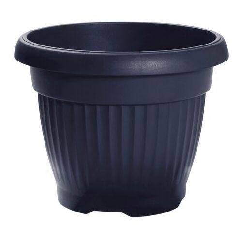 Prosperplast Doniczka terra nova : kolor - antracyt (szaro-czarny), średnica - 450 mm