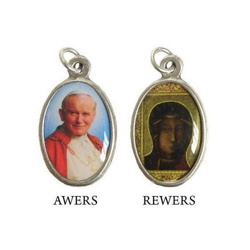 Medalik z wizerunkiem św. Jana Pawła II i Matki Bożej Częstochowskiej z kaplicy Sanktuarium.