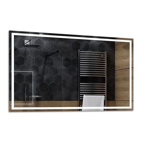 Lustro łazienkowe z podświetleniem led - 90x70cm - atlanta marki Alasta