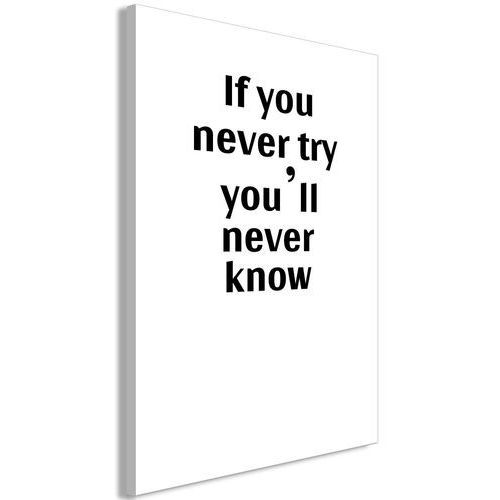 Obraz - if you never try you'll never know (1-częściowy) pionowy marki Artgeist