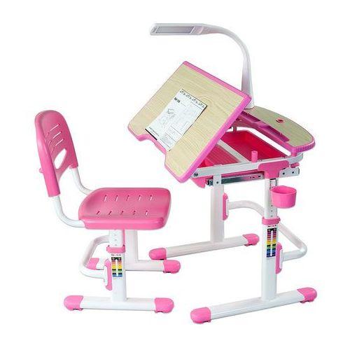 Sorriso Pink - Ergonomiczne, regulowane biurko dziecięce + krzesełko FunDesk - ZŁAP RABAT: KOD30
