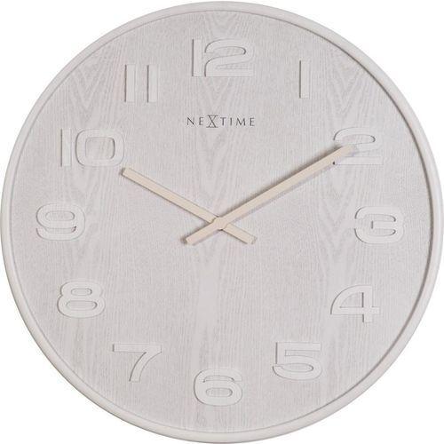 Zegar ścienny wood wood big biały marki Nextime