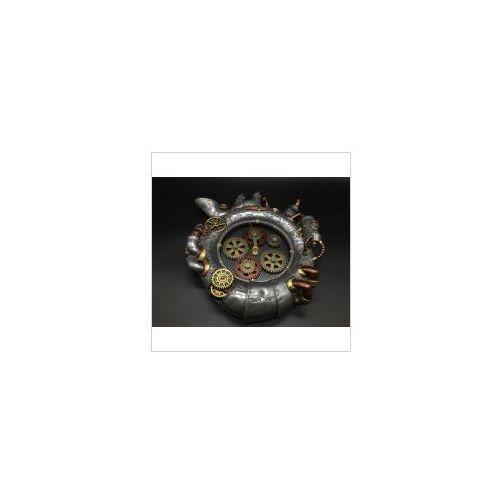 Veronese Steampunk wiszący zegar srebrny (wu77199v8)