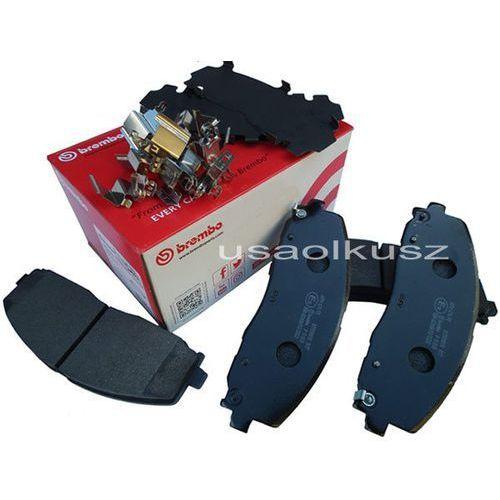 Klocki hamulcowe przednie tarcze 330mm volkswagen routan 2012 68144163ae marki Brembo