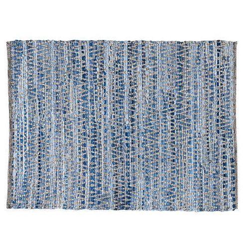 Dywan leros - 100 % bawełny - 100 x 140 cm - niebieski marki Vente-unique